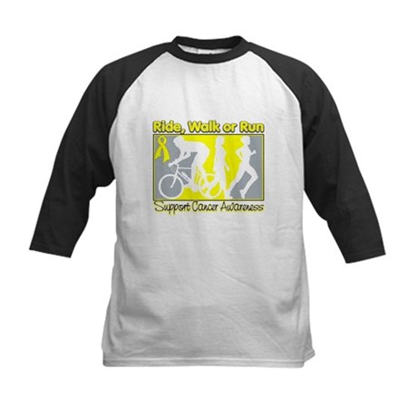 Bladder Cancer RideWalkRun Kids Baseball Jersey