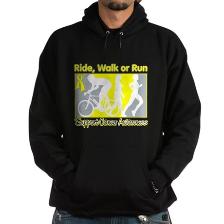 Bladder Cancer RideWalkRun Hoodie (dark)