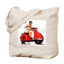 Antique Scooters Tote Bag
