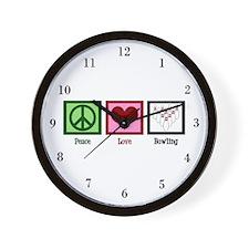 Peace Love Bowling Wall Clock