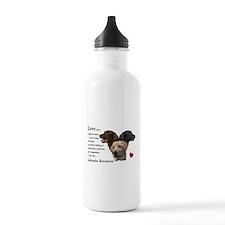 Labrador Retriever Love Water Bottle