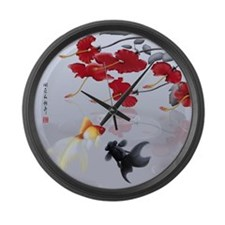 Asian Inspirations Tranquility Large Wall Clock