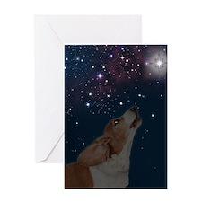 RD Basset O Howly Night Greeting Card