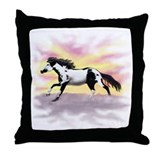 Galloping Ziggy Throw Pillow
