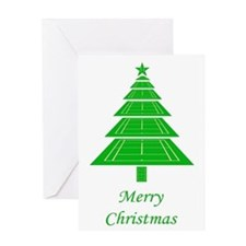 Tennis Court Christmas Tree Card