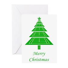 Tennis Court Christmas Tree Cards (Pk of 10)