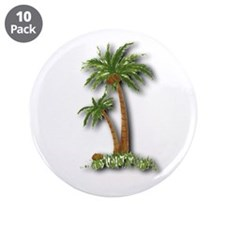 "Twin palms 3.5"" Button (10 pack)"