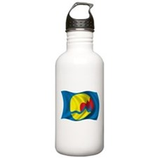 Wavy Grand Rapids Flag Water Bottle
