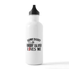 Somebody In Rhode Island Stainless Water Bottle 1.