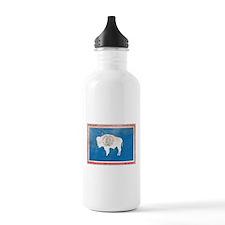 Vintage Wyoming Flag Water Bottle