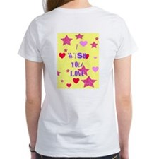I wish you love Women's White Cotton T-Shirt