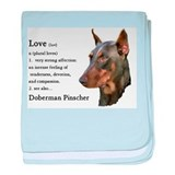 Doberman Pinscher Gifts baby blanket