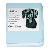 Great Dane (Black) Gifts baby blanket