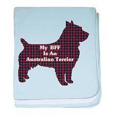 BFF Australian Terrier baby blanket
