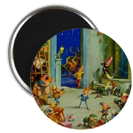 "Elves in Santa's Workshop 2.25"" Magnet (100 pack)"