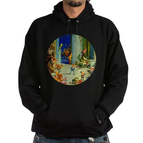Elves in Santa's Workshop Hoodie (dark)
