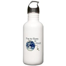 Pray the Rosary for Peace Water Bottle