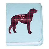 BFF Scottish Deerhound baby blanket