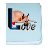 Great Dane LOVE baby blanket