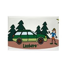 Lesbaru and Leslie Wilderness Rectangle Magnet