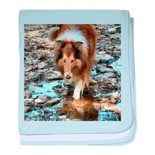 Rough Collie Art Gifts baby blanket