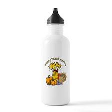 Happy Thanksgiving Pumpkins Water Bottle