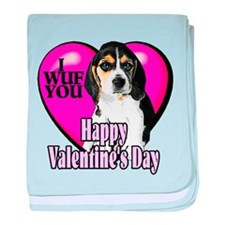 Beagle Valentines baby blanket