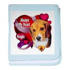 Beagle_Always In My Heart baby blanket