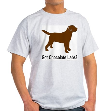 Got Chocolate Labs II Ash Grey T-Shirt