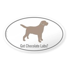 Got Chocolate Labs II Oval Decal
