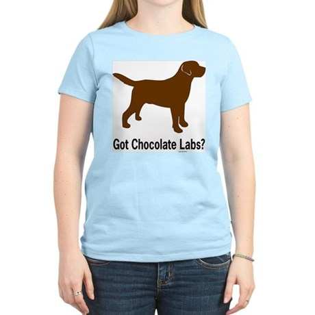 Got Chocolate Labs II Women's Pink T-Shirt