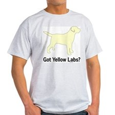 Got Yellow Labs II Ash Grey T-Shirt