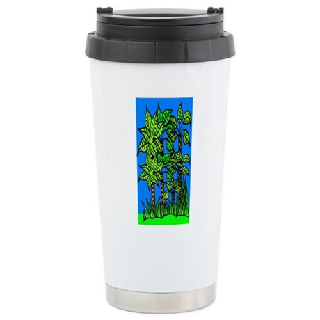 Abstract Trees Ceramic Travel Mug