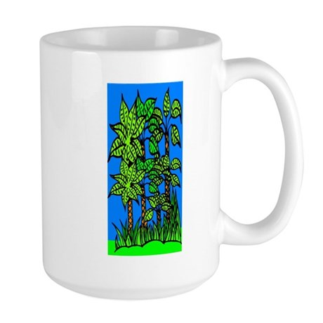 Abstract Trees Large Mug