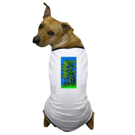 Abstract Trees Dog T-Shirt