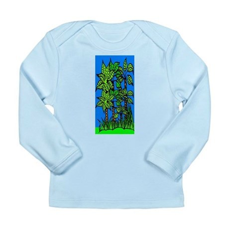 Abstract Trees Long Sleeve Infant T-Shirt
