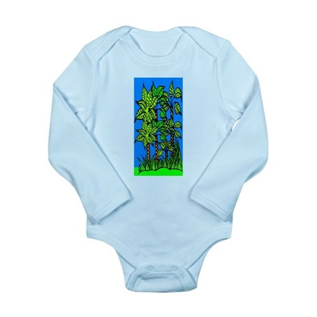 Abstract Trees Long Sleeve Infant Bodysuit
