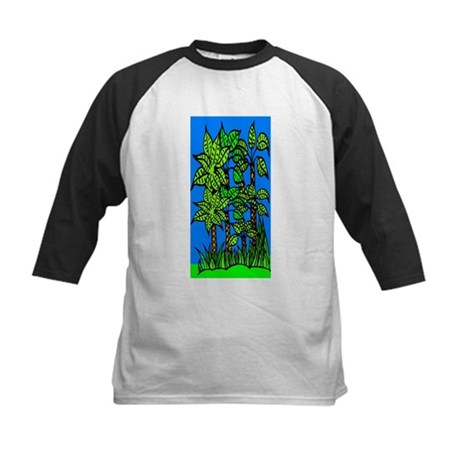 Abstract Trees Kids Baseball Jersey