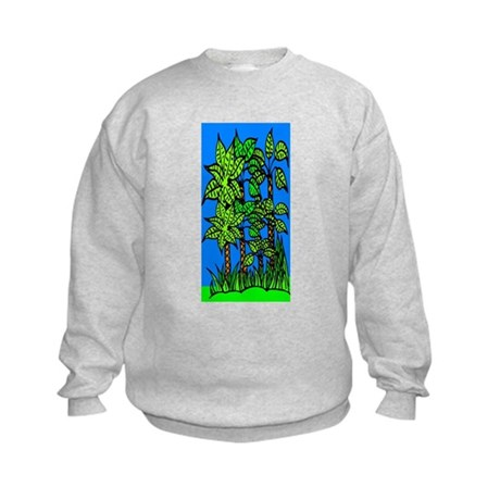 Abstract Trees Kids Sweatshirt