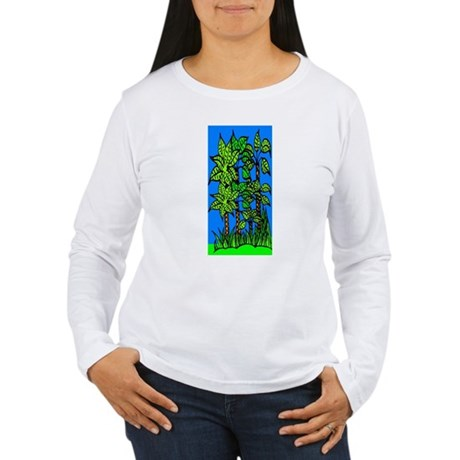 Abstract Trees Women's Long Sleeve T-Shirt