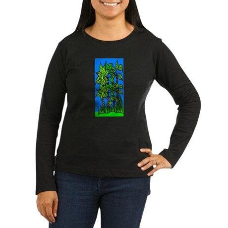 Abstract Trees Women's Long Sleeve Dark T-Shirt