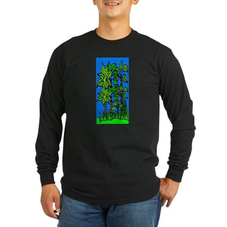 Abstract Trees Long Sleeve Dark T-Shirt