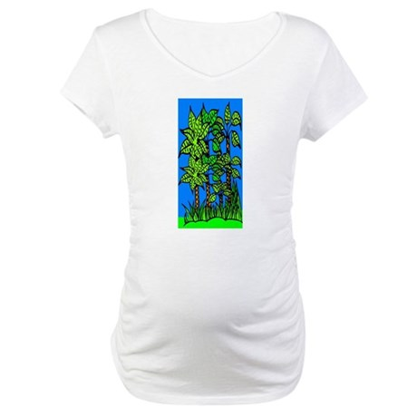 Abstract Trees Maternity T-Shirt