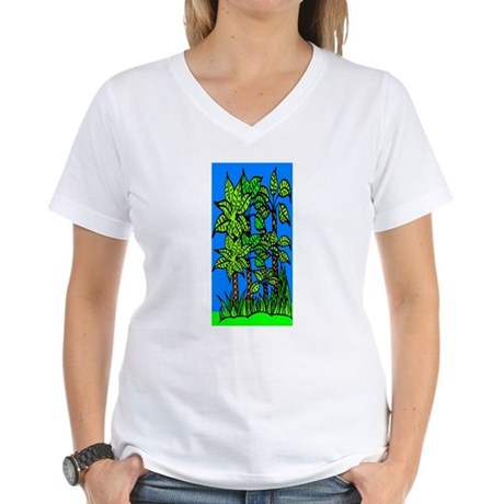 Abstract Trees Women's V-Neck T-Shirt