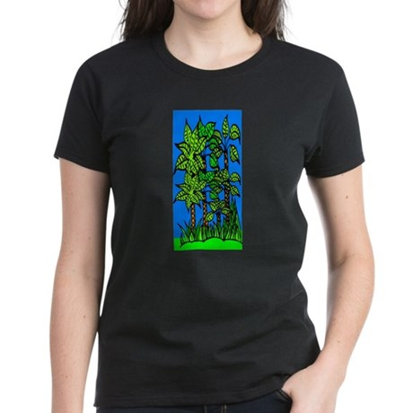 Abstract Trees Women's Dark T-Shirt