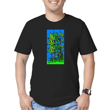 Abstract Trees Men's Fitted T-Shirt (dark)