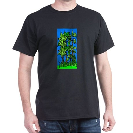 Abstract Trees Dark T-Shirt