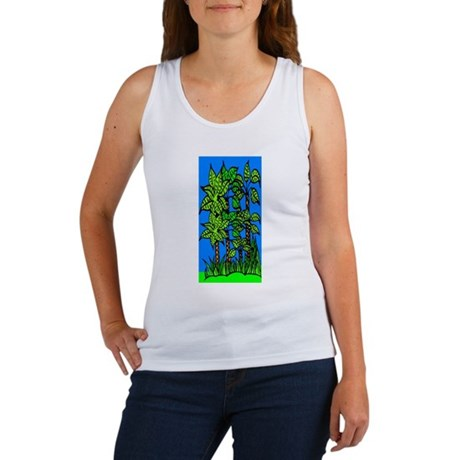 Abstract Trees Women's Tank Top