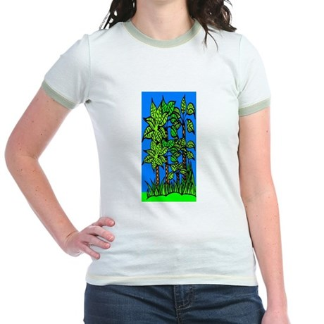 Abstract Trees Jr. Ringer T-Shirt