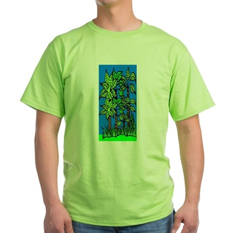 Abstract Trees Green T-Shirt